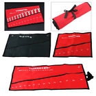 Canvas Roll up Tools Storage Bag Pocket Spanner Wrench Organizer Pouch