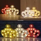Fashion Crown Shaped LED Night Light Christmas Party Home Decoration EN24H 01
