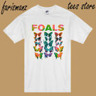 New FOALS BAND EURO TOUR 2013 Men's White T-Shirt Size S to 3XL