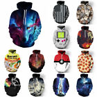 Unisex Creativity Graphic Fashion Couples 3D Hoodie Pullover Tops