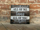 Custom WEDDING Canvas, All Of Me Loves All Of You, Anniversary Or Christmas Gift
