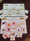 FRUIT & VEGETABLE MATCH / SORTING GAMES - SPECIAL NEEDS AUTISM HEALTHY EATING