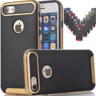 Shockproof Armor Gold Plating Carbon Fibre Rugged Gel Case Cover For iPhone 7 8