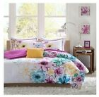 Twin XL Full Queen Cal King Bed Teal Purple Yellow Floral 5 pc Comforter Set