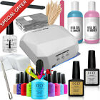 CCO Deluxe Nail Gel UV Polish Starter Kit Set High Quality LED Lamp Shellac