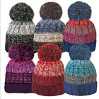 Unisex Stripe Bobble Hat With Cosy Fleece Liner 6 Colours Free Postage