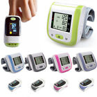 Digital LCD Wrist Blood Pressure Monitor Finger Pulse Oximeter OLED SpO2 & PR US