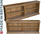 """Solid Pine Bookcase, Handcrafted & Waxed 2ft 4"""" x 6ft Wide Adjustable Bookshelf"""