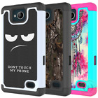 For ZTE Majesty Pro Case, Patterned Hybrid Hard Silicone Protective Phone Cover