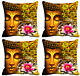 Saint Floral Print Cushion Cover Home Decor Sofa Case Cushion Covers  4Pc Combo