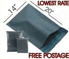 14 X 20 INCH Courier Bags Parcel Bags Mail Bags Postage Bags Grey Poly All Sizes