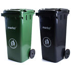 120L Wheelie Bin Household Council Rubbish Recycling Green/Grey Outdoor Waste