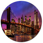 Design Art 'Brooklyn Bridge and Manhattan at Sunset' Photographic Print on Metal