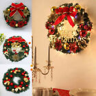 Christmas Garland 30cm Paperboard Wreath Ornaments Bowknot Door Decor Trend US