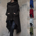 US Women Winter Hoodie Long Hooded Tops Casual Sweatshirt Sweater Asymmetric
