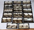 Lot of 17 Antique 1907 Stereograph Panama Canal Construction  H.C. White