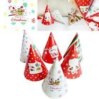 6pcs Christmas Paper Hats Unisex Decoration Birthday Hats Cap For Party ESY1 01