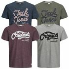 Mens T Shirt JACK & JONES Authentic Crew Neck Short Sleeve Graphic Tee