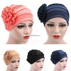 Fashion Women Cotton Flower Hat Beanie Baggy Cap Turban Hijab ESY1