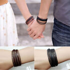 Womens Mens Vintage Guitar Chain Braided Rope Multilayer Bracelet Handmade