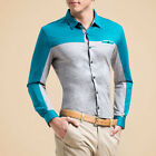 Mens Long Sleeve Shirts Slim Fit Full Mercerized Cotton Top Quality US XXS-XL