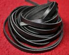 """50"""" 130cm long 3,4,5,6,7,8,9 mm REAL LEATHER LACE STRIP FLAT CORD 2.5mm thick"""