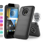 MODERN COVER PHONE CASE FOR [MOTOROLA MOTO E4 / E4 PLUS] +BLACK TEMPERED GLASS