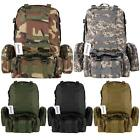 55L Oxford Military Tactical Backpack Assault Travel Mountaineering Rucksack@