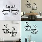 Coffee Cup Wall Decal Design Sticker Art Ideas for Kitchen and Home Decoration