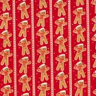 Christmas Fabric Gingerbread Men Snowflakes and stripes Polycotton Quilts crafts