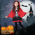 kid Girl Christmas Halloween Red Hood Role Play Costumes Dress-Up Set With Cloak