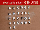 Genuine S925 Sterling Silver Alphabet Letter A-Z Charm Necklace Christmas Gift