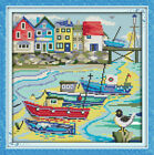 Joy Sunday Love Harbor Counted Cross Stitch Kit 12''x13'' 14 CT Canvas Fabric