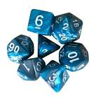 7 St. / Set Trpg Spiel Dungeons & Dragons Polyhedral D4-D20 Multi Seitig Acryl
