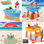 Kids Sand and Water Beach Children Activity Play Table Outdoor Toys Set Summer