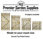 Bespoke Custom Made 2 Measure Wicket Picket  Garden Wood Timber Gate 4 X Heights