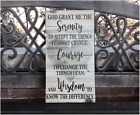 Serenity Prayer Sign, Home Decor Canvas, Courage & Wisdom, Great Gift