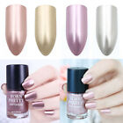 6/9ml Metallic Nail Polish Mirror Effect Rose Gold Silver Metal Polish Varnish