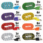 Zoomy 6ft Braided Usb Charger Cable Sync Cord For Iphone 5 5c 5s 6 6s 7 Plus Lot
