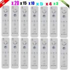 LOT 20 pcs Wireless Wii  Remote Controller+Wrist for Nintendo Game White SK