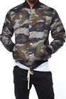 Mens Fashion Hip Hop Quilted Puffy Button Snaps Bomber Jackets BTL0906