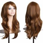 Rainbow Color Cosplay Wig Real Deluxe Women Girls Curly Straight Wavy Full Wig s