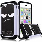 Unique Don't Touch My Phone Cover Hybrid Defender Angry Face Case For iPhone 5C