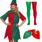 8-22 LADIES ELF FANCY DRESS COSTUME CHRISTMAS XMAS SANTAS HELPER OUTFIT PIXIE