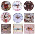 XD#3 Vintage Wooden Wall Clock Large  Shabby Chic Rustic Kitchen Home Antique