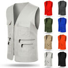 New Men Multi Pocket Travelers Fishing Photography Director Casual Outdoor Vest