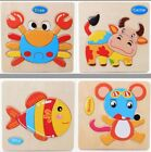 Wooden 3D Puzzle Jigsaw Wooden Toys For Children Cartoon Animal Puzzles Intellig