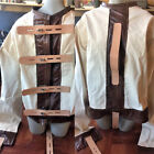 Escape room straight jacket with wide leather straps - lockable Xl extra large