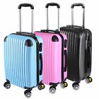 "20"" Travel Luggage Carry On Bag Trolley Fashion Suitcase ABS 360° Rolling Wheels"