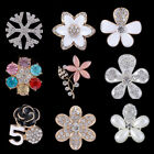 DIY Rhinestone Crystal Enamel Flowers for Cell Phone Back Case Cover Decor Craft
